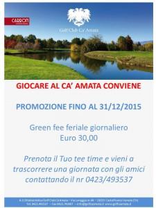 PROMOZIONE GREEN FEE INVERNO
