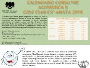 CALENDARIO CORSI PRE AGONISTICA B primavera