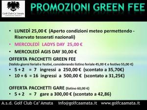 LOCANDINA PROMO OK GREEN FEE